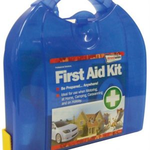 First aid kit with mounting