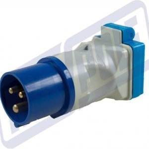 MAYPOLE Caravan 230v 16A Plug to BS Socket Adaptor