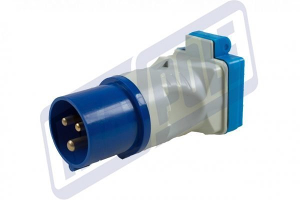 MAYPOLE Caravan 230v 16A Plug to BS Socket Adaptor