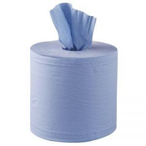 2 Ply Blue Centrefeed Roll - single